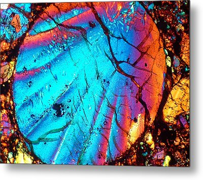 Perfect Chondrule 160x Metal Print by Tom Phillips