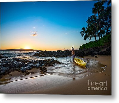 Perfect Ending - Beautiful And Secluded Secret Beach In Maui Metal Print by Jamie Pham