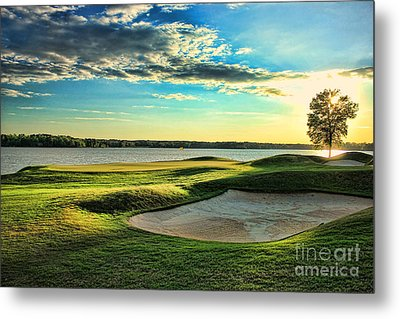 Perfect Golf Sunset Metal Print by Reid Callaway