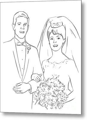 Metal Print featuring the drawing Perfect Wedding by Olimpia - Hinamatsuri Barbu