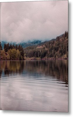 Perfectly Cloudy Lake Metal Print by Omaste Witkowski