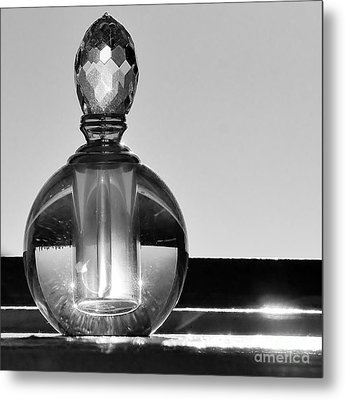 Metal Print featuring the photograph Perfume Bottle Inversion by Lilliana Mendez