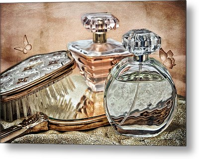 Perfume Bottle Ix Metal Print by Tom Mc Nemar