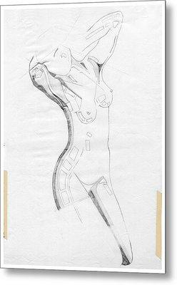 Perfume Of Venus - Homage Rodin Metal Print