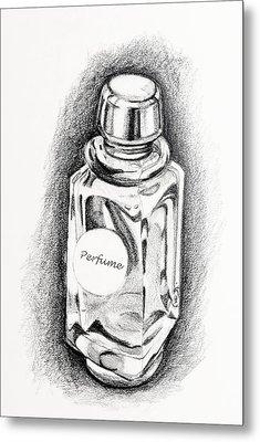 Perfume Bottle Metal Print