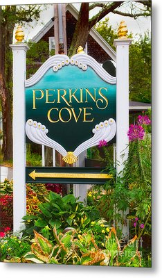 Perkins Cove Sign Metal Print