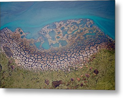 Permafrost Polygons On The Coast Metal Print
