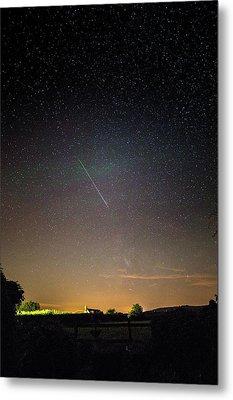 Perseid Meteor Trail 2015 Metal Print by Chris Madeley