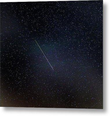 Perseid Meteor Trail Metal Print by Chris Madeley