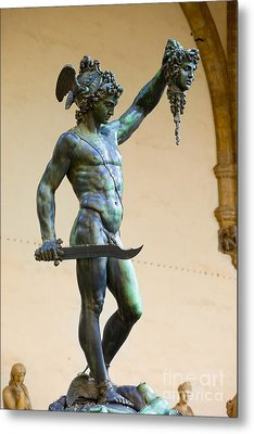 Perseus And Medusa Metal Print by Brian Jannsen