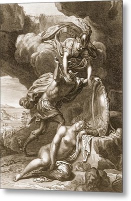 Perseus Cuts Off Medusas Head, 1731 Metal Print by Bernard Picart