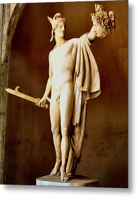 Perseus With The Head Of Medusa  Metal Print by Antonio Canova