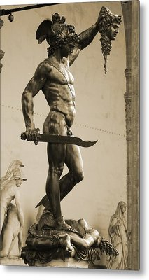 Perseus With The Head Of Medusa Metal Print