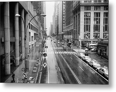 Pershing View 42nd Street Nyc Metal Print by Dave Beckerman