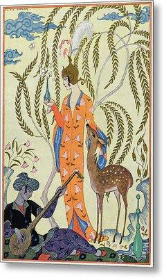 Persia Metal Print by Georges Barbier