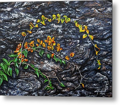 Metal Print featuring the painting Persistence by Craig T Burgwardt