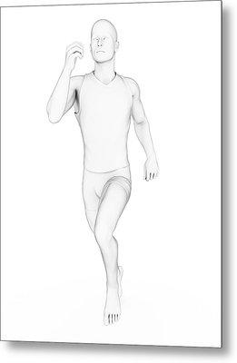 Person Jogging Metal Print