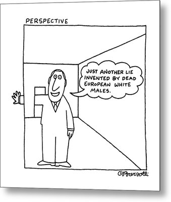 Perspective Metal Print by Charles Barsotti