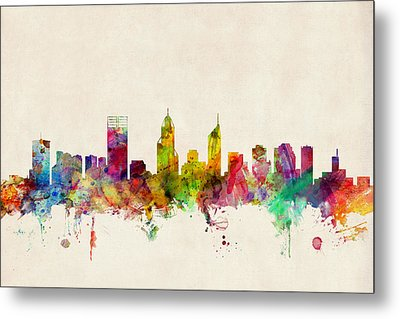 Perth Australia Skyline Metal Print by Michael Tompsett