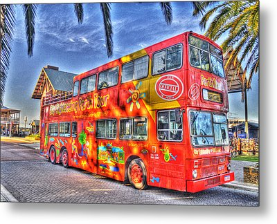 Perth Tour Bus Metal Print by Geraldine Alexander