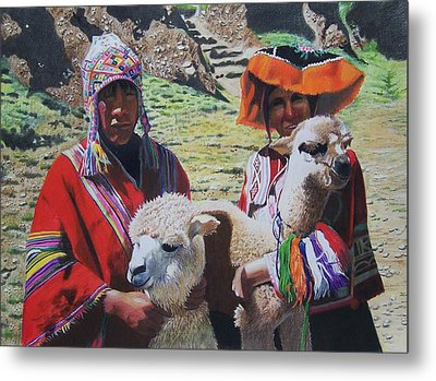 Peruvians Metal Print