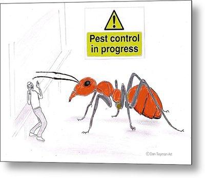 Pest Control Metal Print