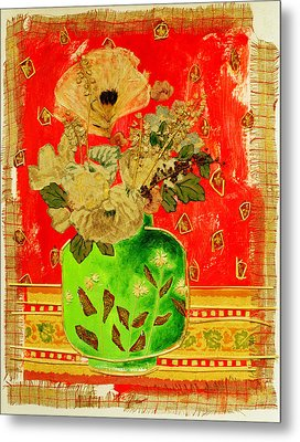 Petals And Leaves Metal Print by Diane Fine
