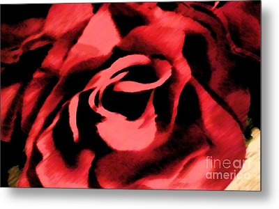 Petals Of Velvetty Red Metal Print by Catherine Lott
