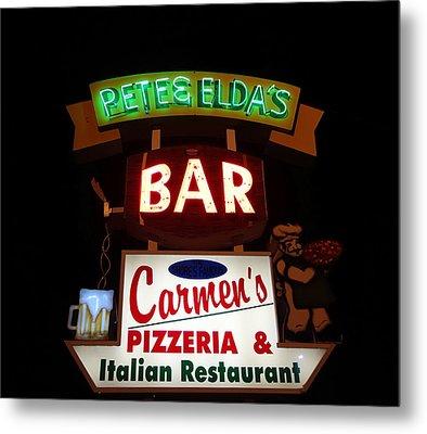 Pete And Elda's Bar Metal Print