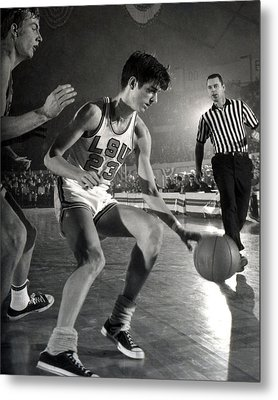Pete Maravich Dribbling Metal Print by Retro Images Archive