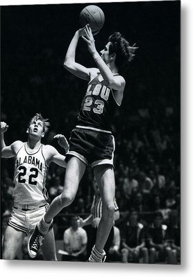 Pete Maravich Fade Away Metal Print