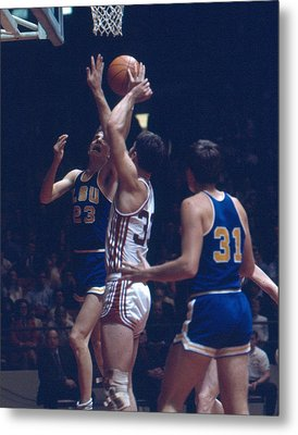 Pete Maravich In Traffic Metal Print