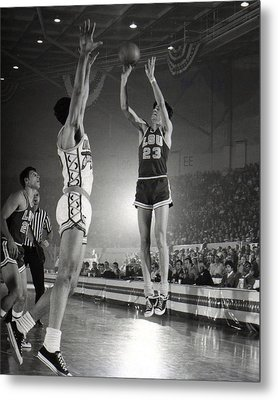 Pete Maravich Jump Shot Metal Print by Retro Images Archive