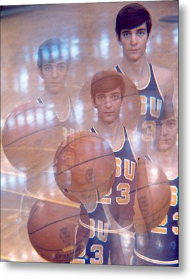 Pete Maravich Kaleidoscope Color 2 Metal Print
