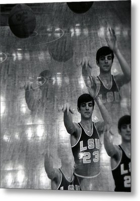 Pete Maravich Kaleidoscope Metal Print by Retro Images Archive