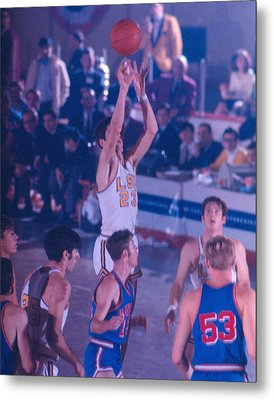 Pete Maravich Releasing Shot Metal Print