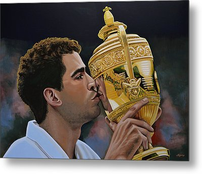 Pete Sampras Metal Print by Paul Meijering