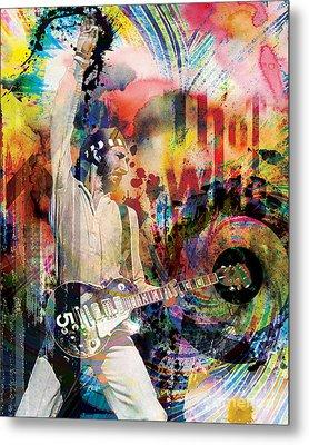 Pete Townshend - The Who  Metal Print by Ryan Rock Artist