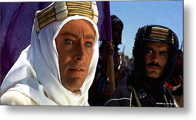 Peter Otoole And Omar Sharif In Lawrence Of Arabia Metal Print