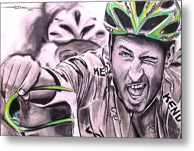 Peter Sagan Metal Print by Eric Dee
