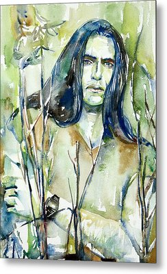 Peter Steele Portrait.1 Metal Print by Fabrizio Cassetta
