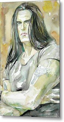 Peter Steele Portrait.2 Metal Print by Fabrizio Cassetta