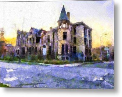 Peterboro Castle Ruins Metal Print by Priya Ghose