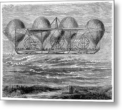 Petin's Planned Aerostat Metal Print by Science Photo Library