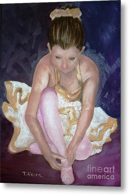 Metal Print featuring the painting Petite Danseuse - Original Sold by Therese Alcorn