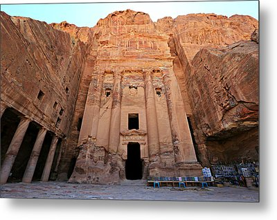 Petra Tomb Metal Print by Stephen Stookey