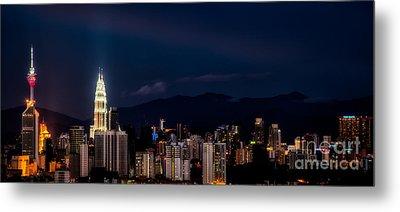 Petronas Lights Metal Print by Adrian Evans