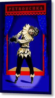 Metal Print featuring the painting Petrouchka by Terry Webb Harshman