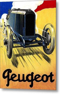 Peugeot Advert Metal Print by Lyle Brown