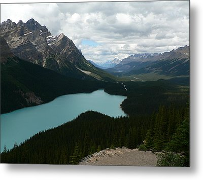 Metal Print featuring the photograph Peyote Lake In Banff Alberta by Laurel Best